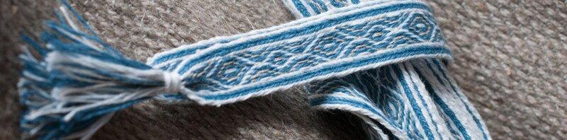 Blue tablet-woven hairband | nigdziekolwiek.com