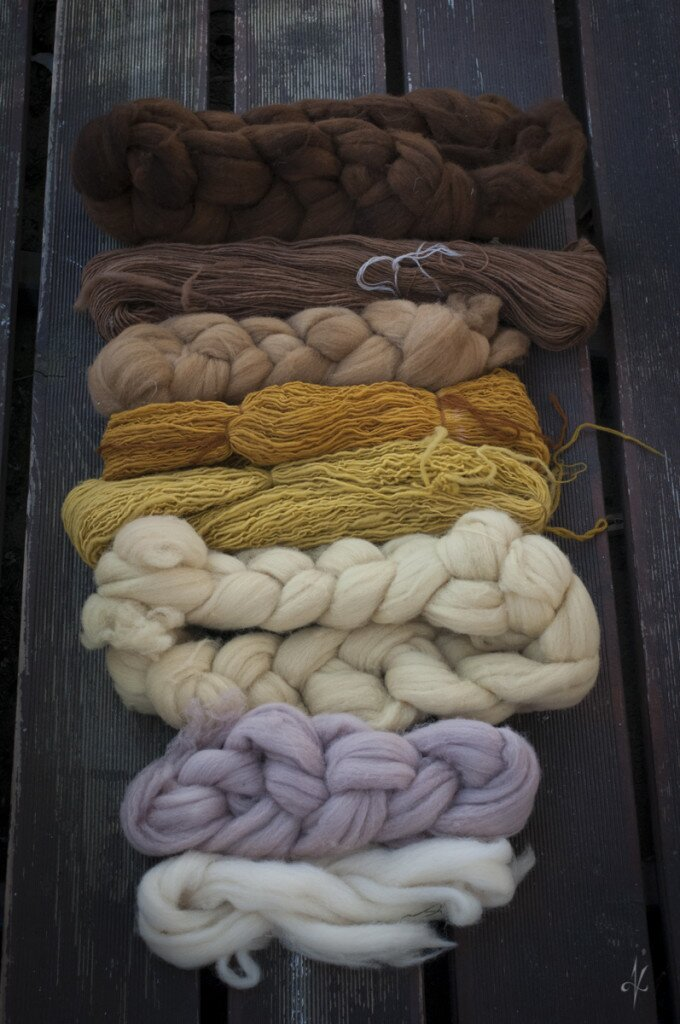 Organic dyed wools